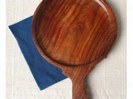 Onlineshoppee Wooden 10 Inch Pizza Plate Or Board Or Racket Round