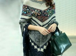 Sizzling Couture Women Latest Trendy Winter Woollen Poncho