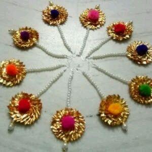 Gota Maang Tika (Set Of 10 Pieces)