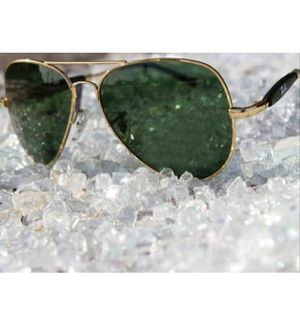 Ray Ban Stylish Fancy Aviator Green Glass Gold 3517 Tready Branded sunglasses for men women Ben Goggles