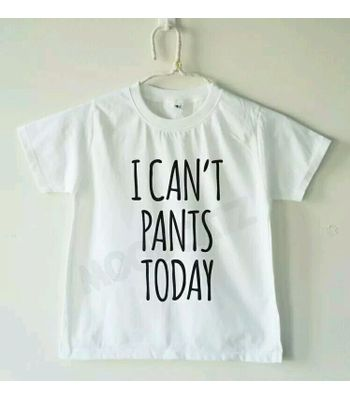 I CANT PANTS TODAY WHITE CROP TOP