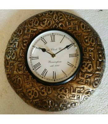 Om Swastik Design Wall Clock