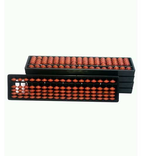 SAE Brown 17 Rod Abacus Set Of 5