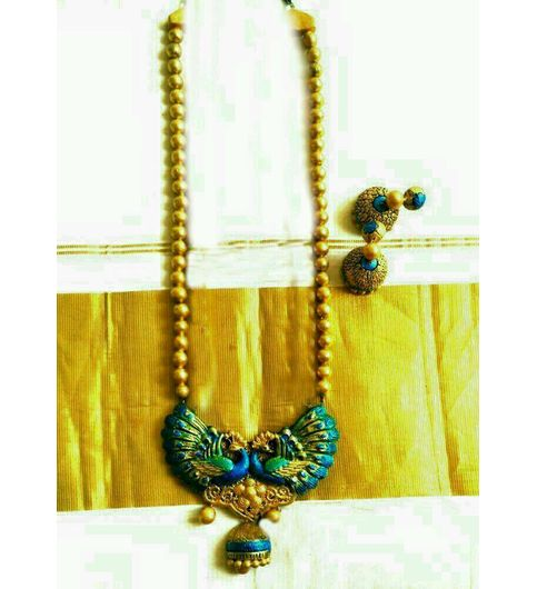 Terracotta Necklace Set With Earring Free Gift For PREPAID Orders