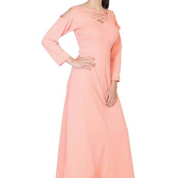 Ocean Trench A Line Pink Plain Womens Dress