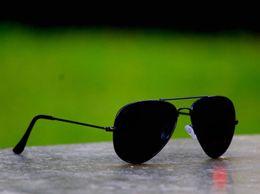 Sunglasses Black Aviator
