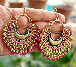 Afghani chandbali earrings