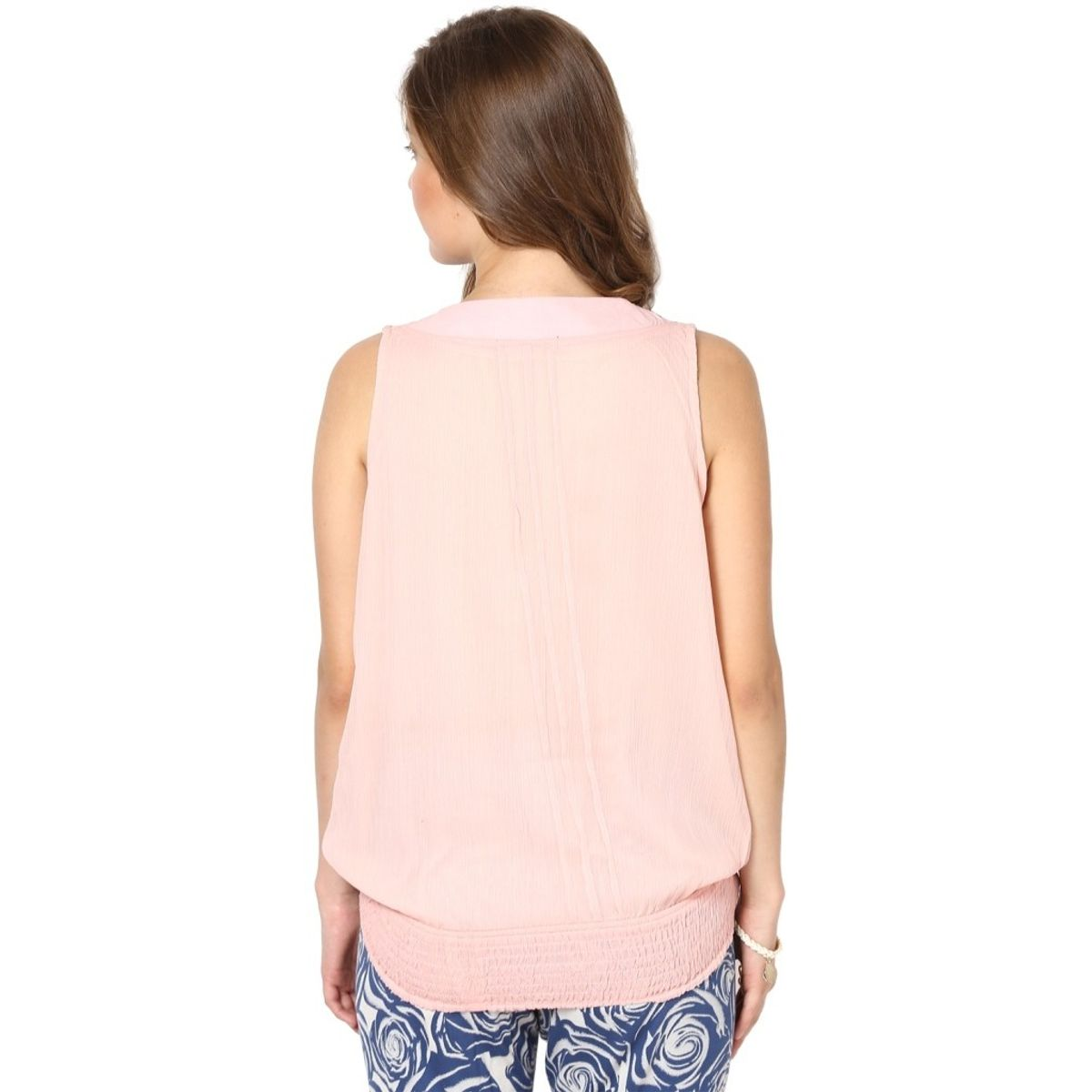 Rose Vanessa Stone Embellished Pink Top