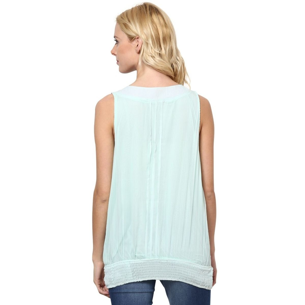 Rose Vanessa Stone Embellished Blue Top
