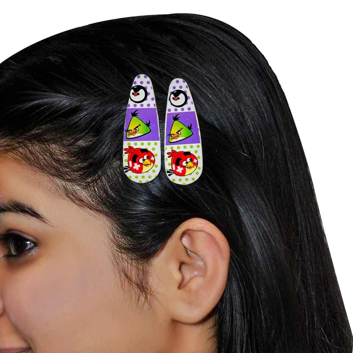 Daily wear Designer Tic Tac Clip in Purple Multicolour for Play-school by Maayra