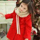 Fur Neck Overcoat-Red