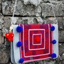 Redness boho bag