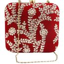 Mehroon Clutch Bag