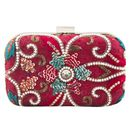 Red beadwork clutch