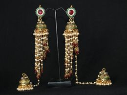 JFL - Ravishing Kashimiri Earrings with Meenakari & Pearls