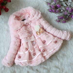 Fur and Lace Overcoat- Pink