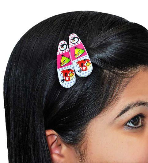 School wear Designer Tic Tac Clip in Pink Multicolour for Friends Party by Maayra