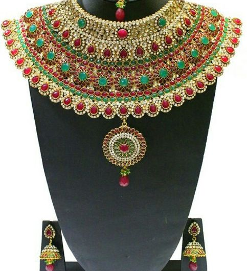 Bridal Set with Kundan And Stones