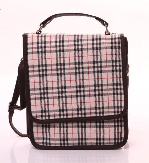 Checkered sling bag