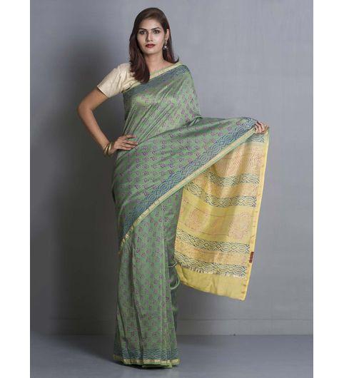 Green Chanderi Saree