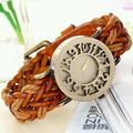 Vintage Watch Brown Leather Straps Uniqe Style
