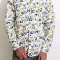 ZOAM Mens Printed Slimfit Casual Shirt