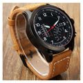 Brown Leather Belt watch For Men W32