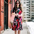 AWESOME FA MULTI COLOR FLOWER'S DIGITAL PRINTED DRESS