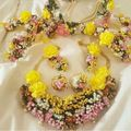 Dry Floral Bridal Set