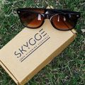 Brown UV Protected Wayfarer Sunglasses for Men (Shiny Plastic)