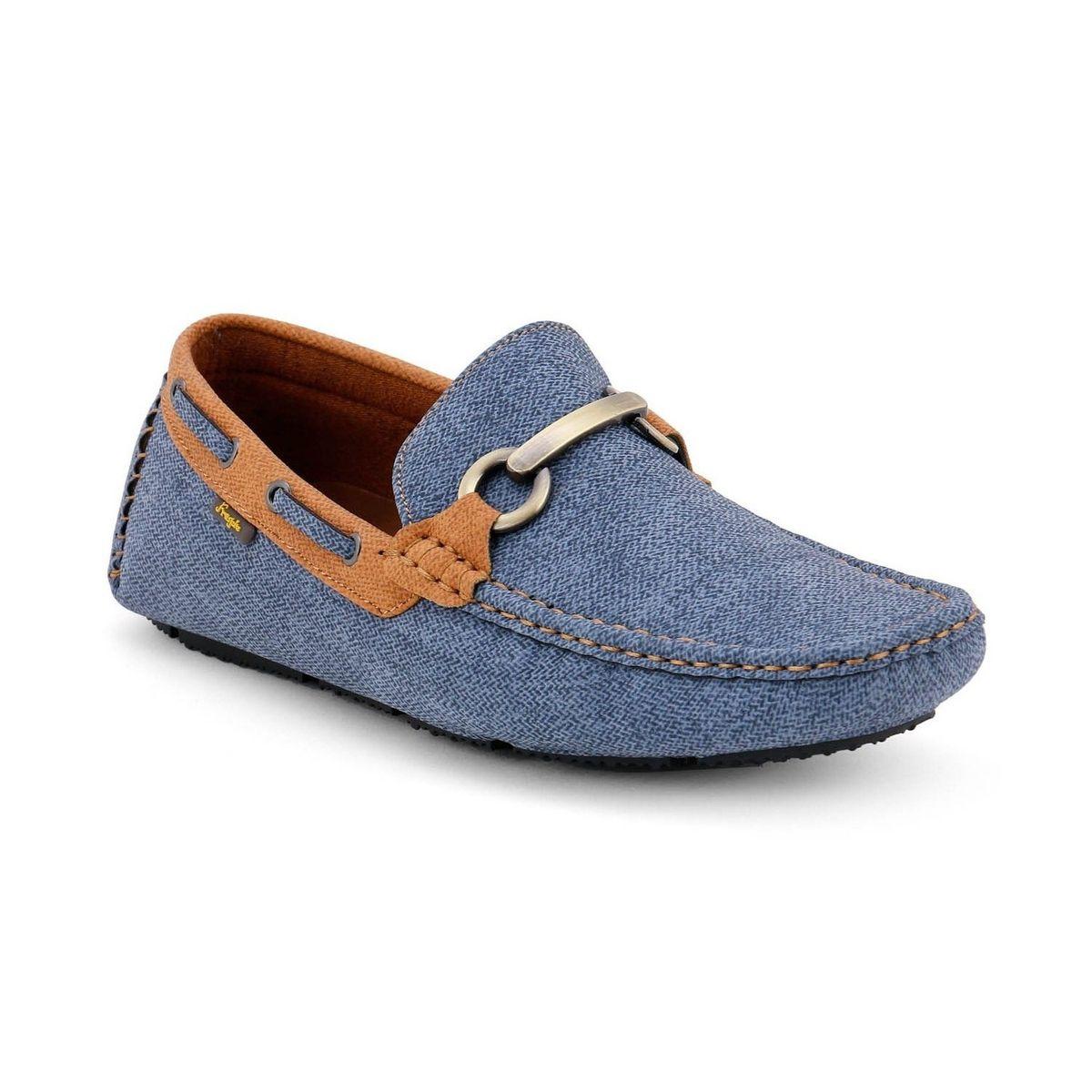 Froskie Casual Smart Party Wear NavyCamel Loafers Fr-008-NavyCamel