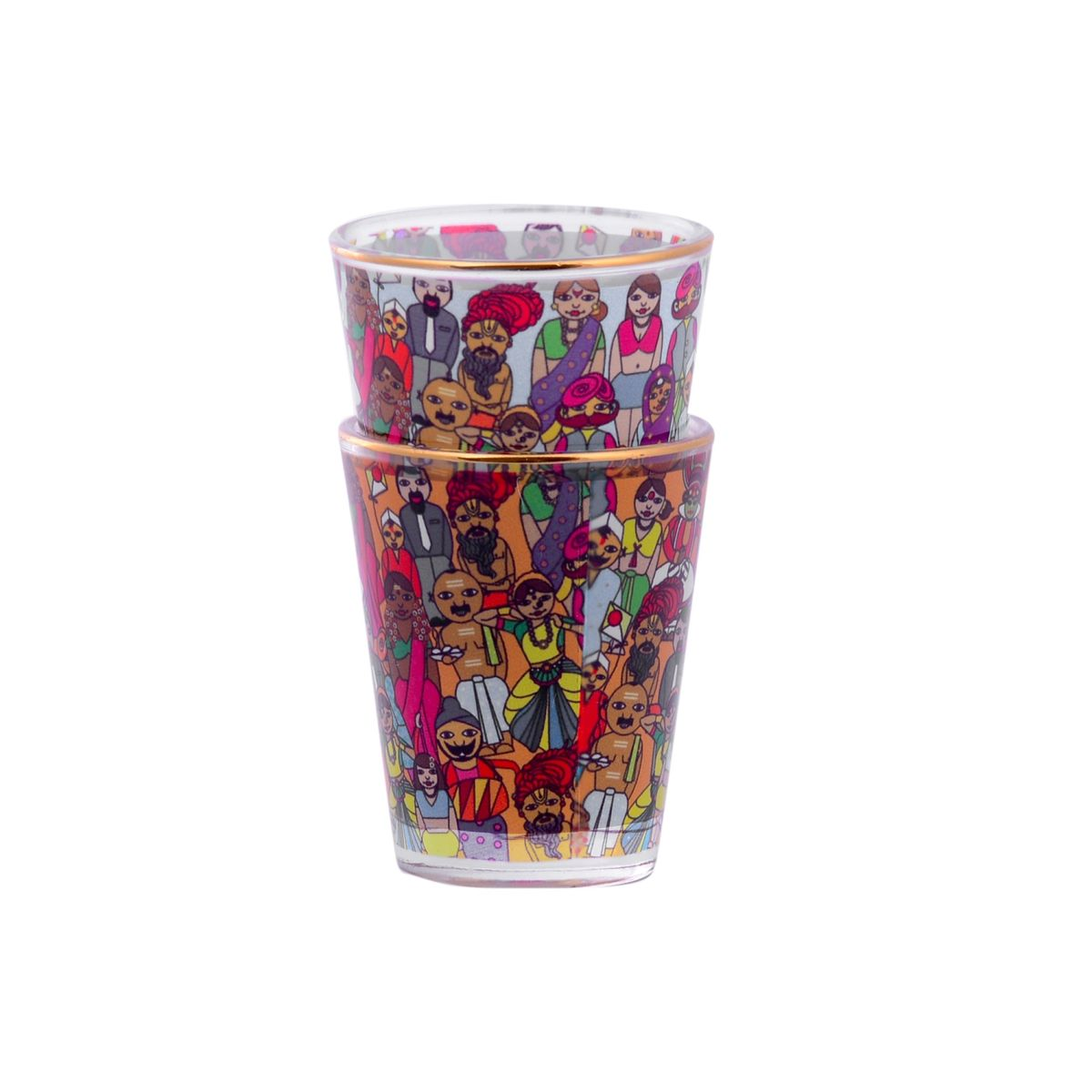 FACES OF INDIA SHOT GLASS
