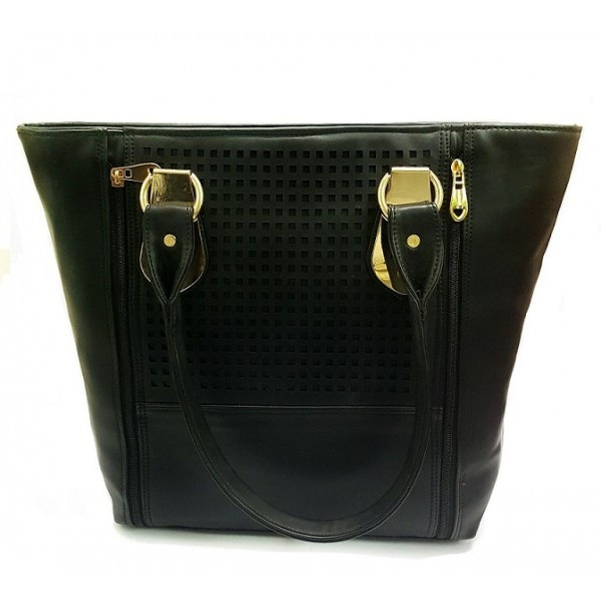 Turqueesa Metallic Black Fantasy Hand Bag