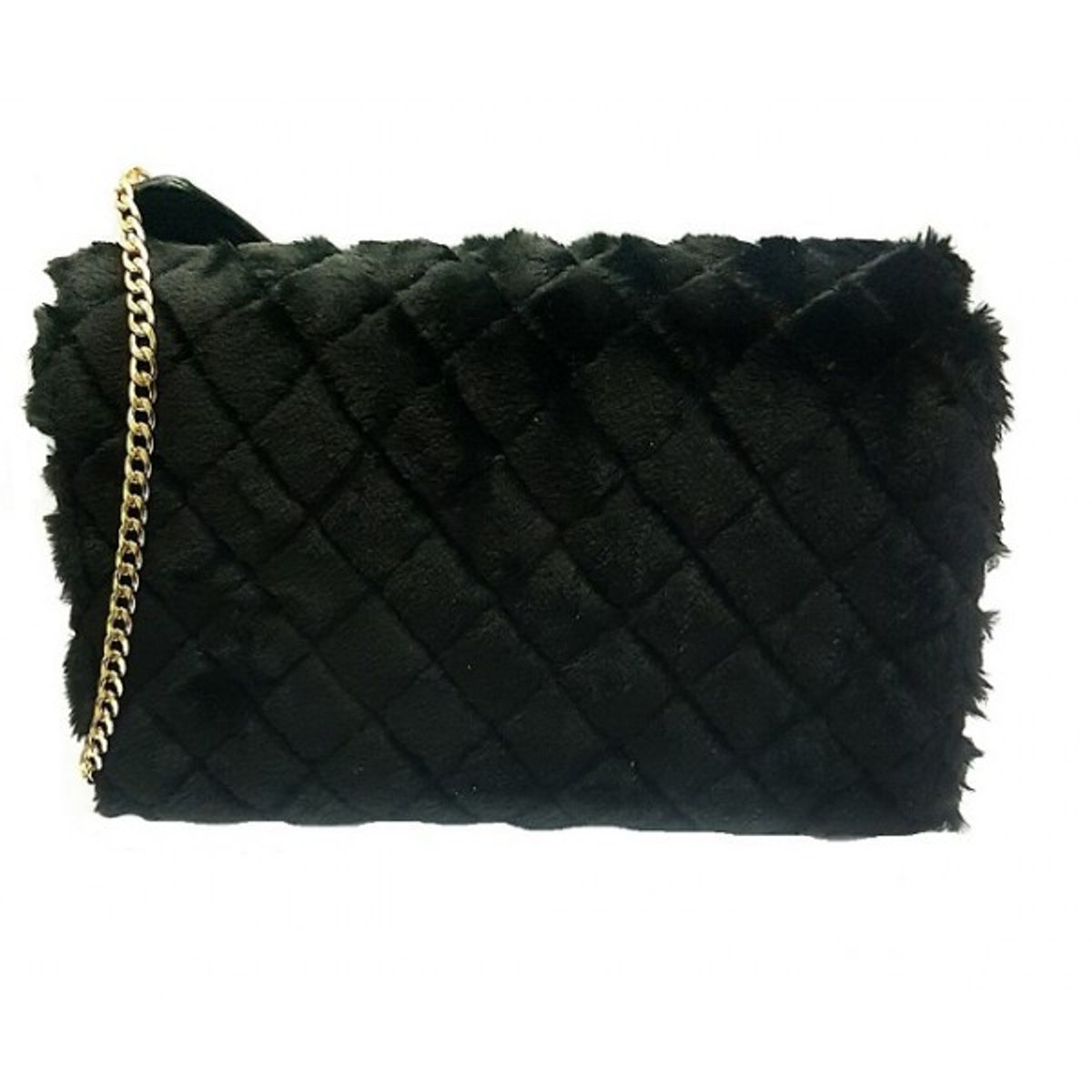Turqueesa Swiss Fur Black Sling