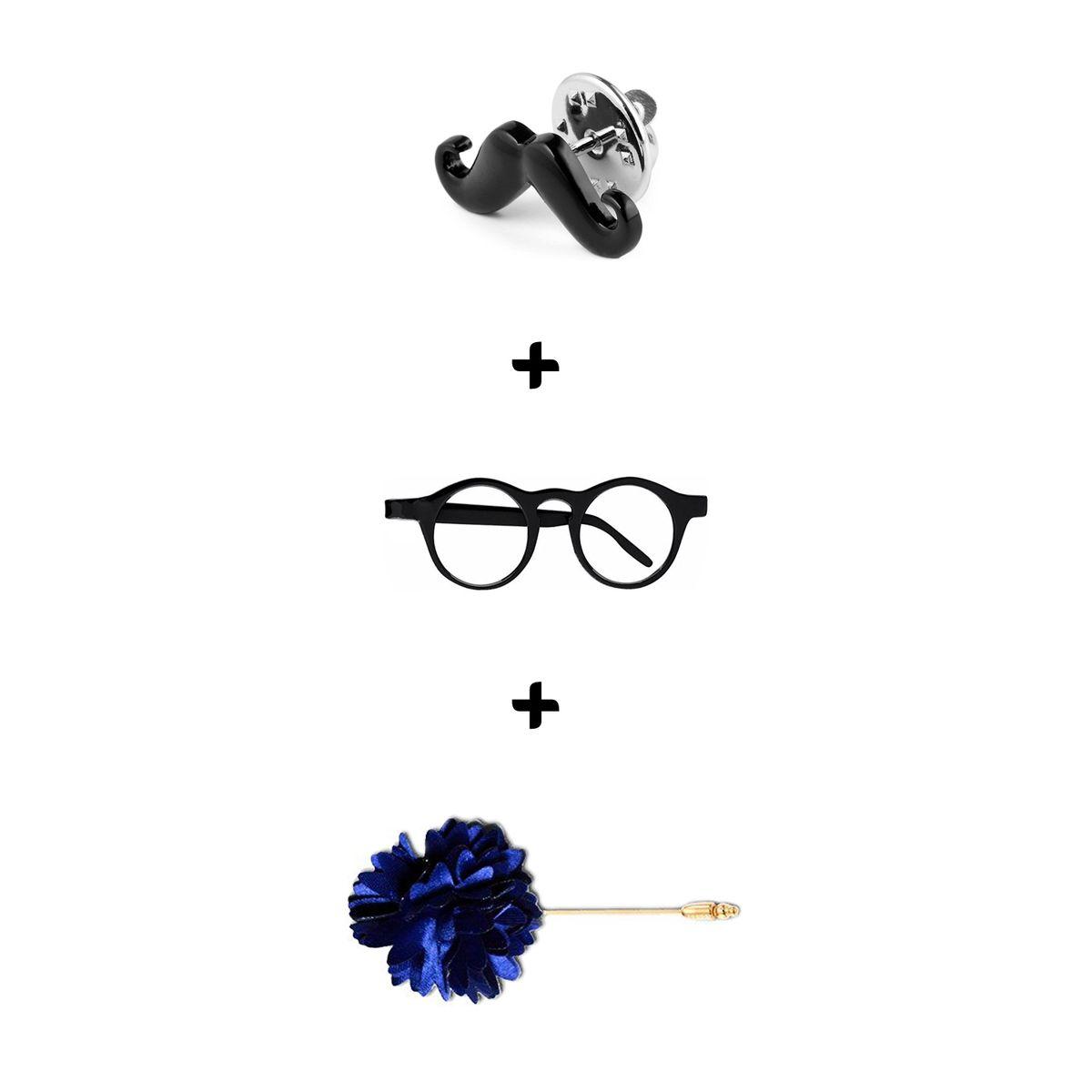 Visach Reversible  Tie For Men with three free accessories VSTIE244-Blk-Red