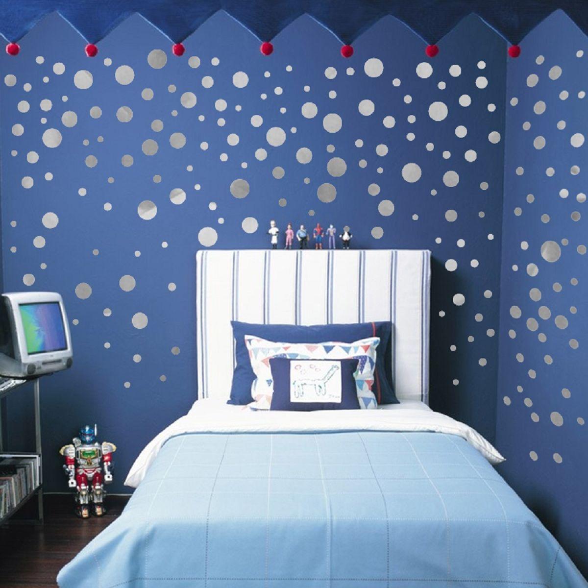 Jaamso Royals  silver film twinkle little Circle  Wall Sticker PVC Vinyl 45 cm X 50 cmDecorative  Stickers