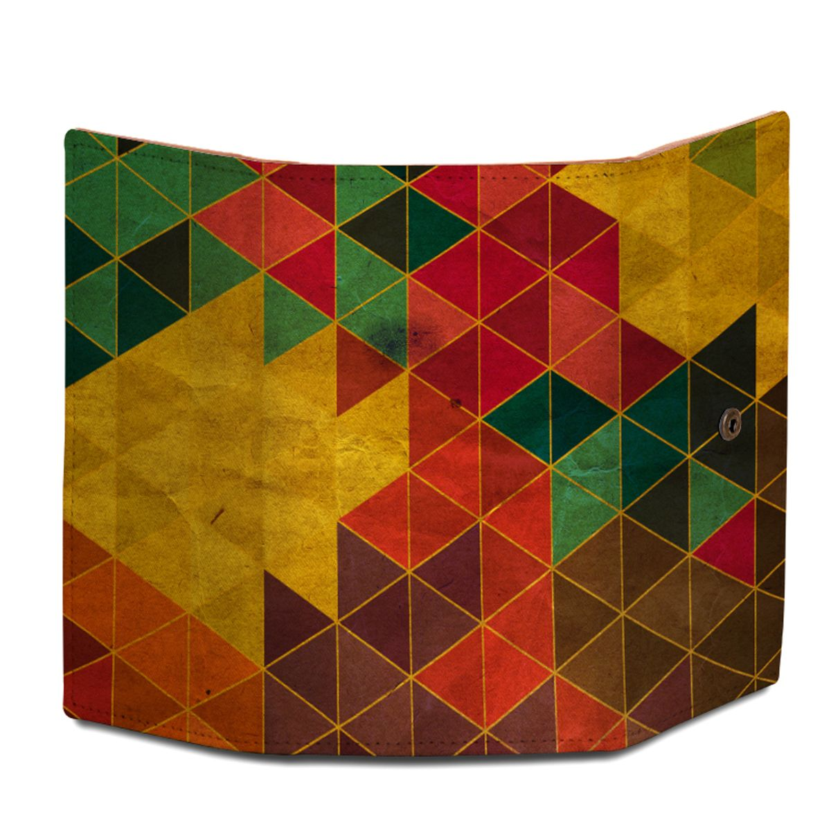 ShopMantra Geometrical Triangles Design Wallet