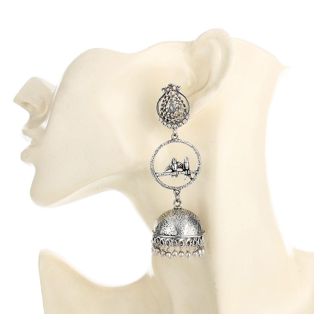 WATCH ME Banjara Boho pom Pom Trendy Fashionable Partywear Earrings Jhumki for Women Girls WMRPG-055
