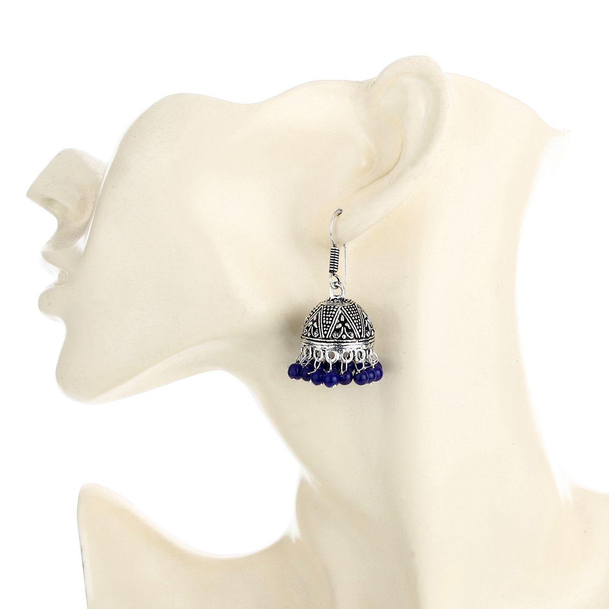 WATCH ME Banjara Boho pom Pom Trendy Fashionable Partywear Earrings Jhumki for Women Girls WMRPG-049