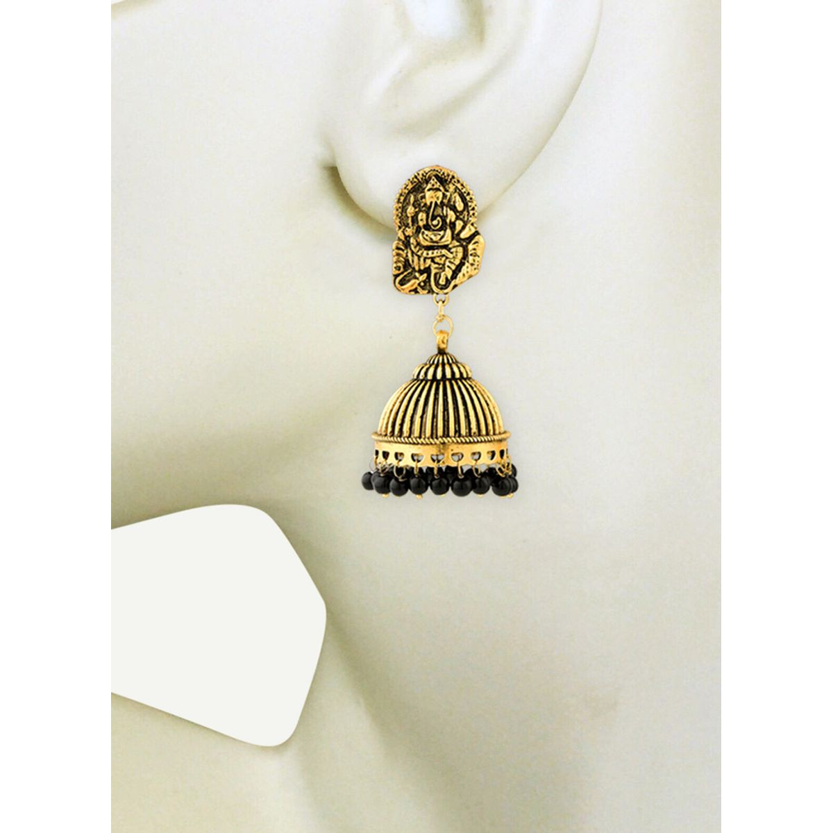 WATCH ME Banjara Boho pom Pom Trendy Fashionable Partywear Earrings Jhumki for Women Girls WMRPG-095