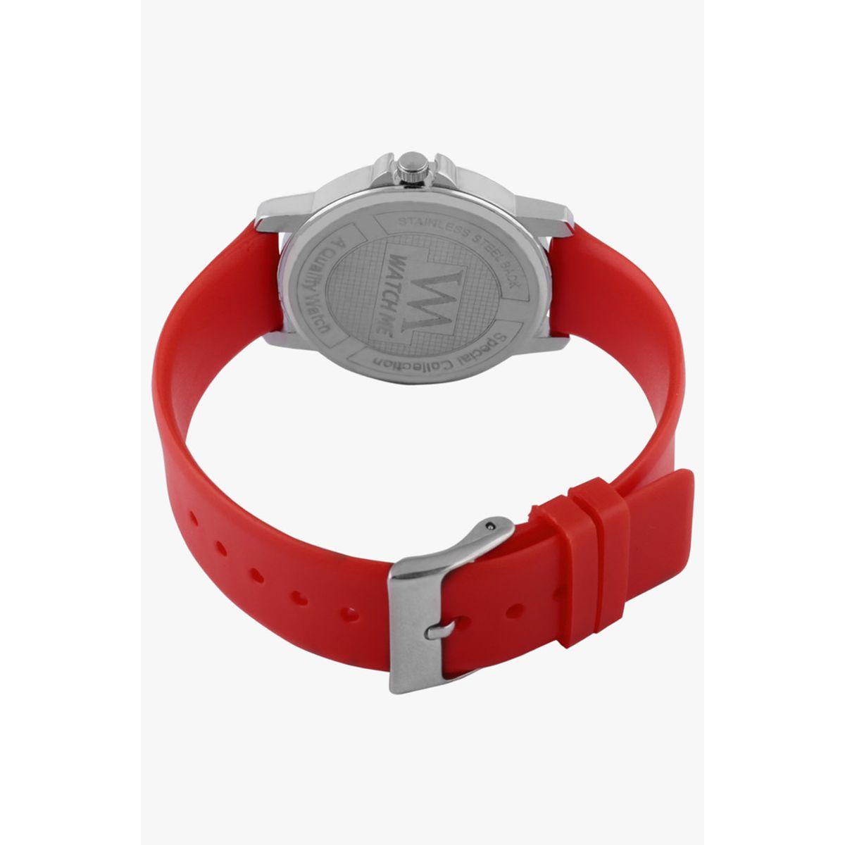 Watch Me Red Women Silicone Swiss Wrist Watch Watch Me-092-Rx