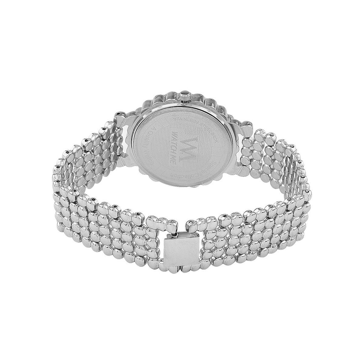 WATCH ME Silver Metal White Dial Watch For Women Watch MeAL-143