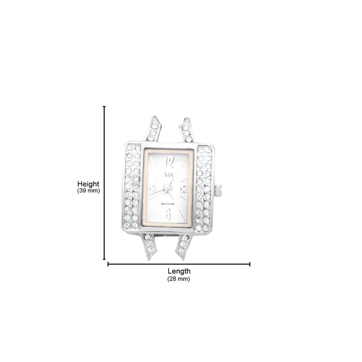 Watch Me White Women Metal Swiss Wrist Watch Watch Me-117-Sx