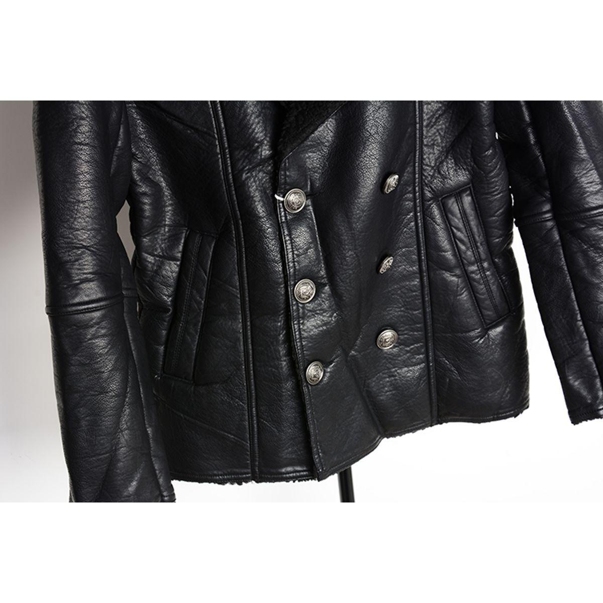 T20 - Italiano TUCCI Vintage Slim Fit Padding Style Designer Mens Pure Leather Jacket