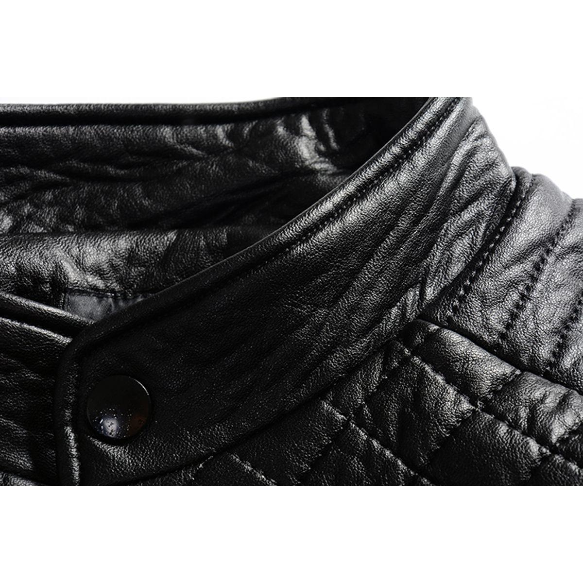 T25 - Italiano TUCCI Vintage Slim Fit Padding Style Designer Mens Pure Leather Jacket