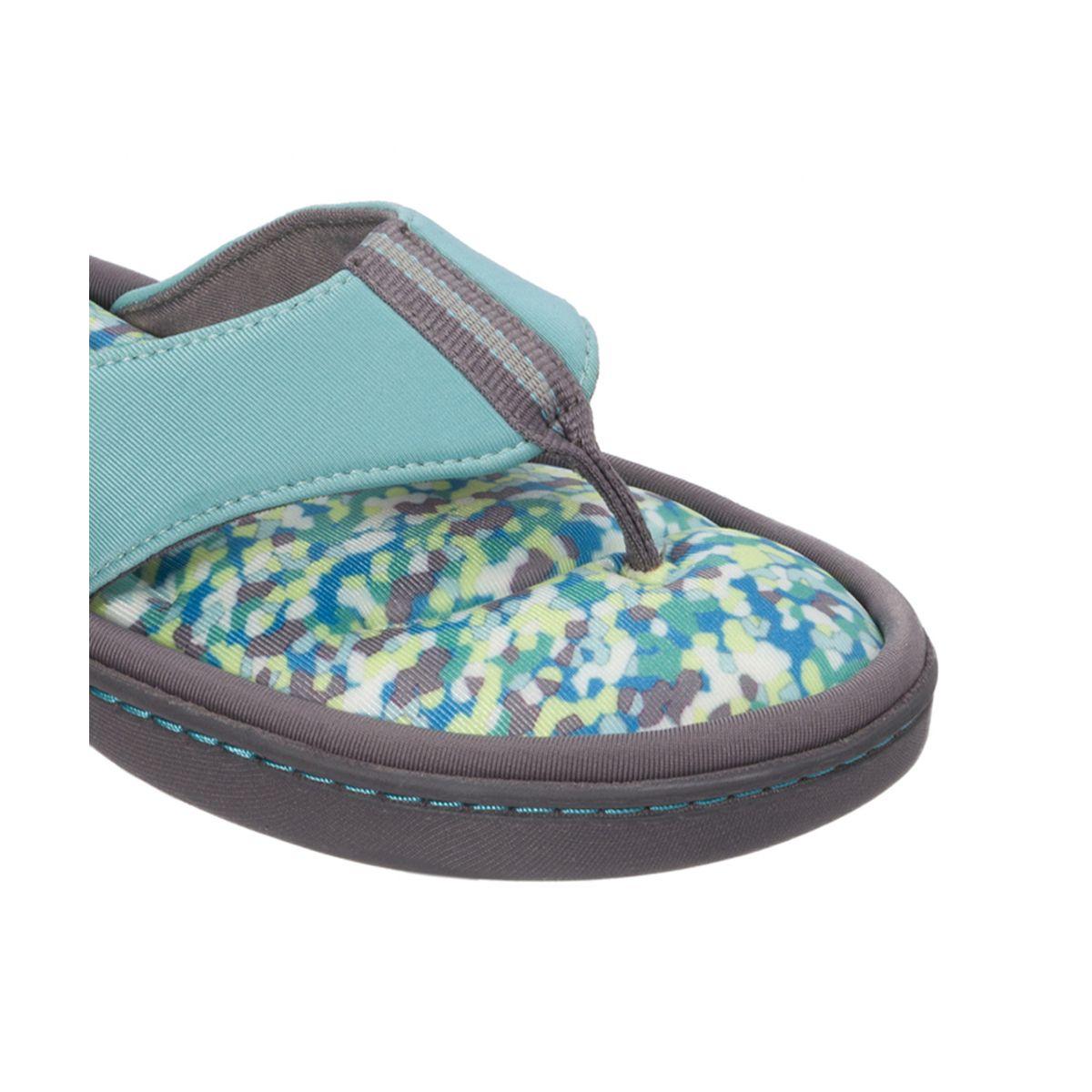 Dearfoams Active Flip Flop with Memory Foam Blue Reptide
