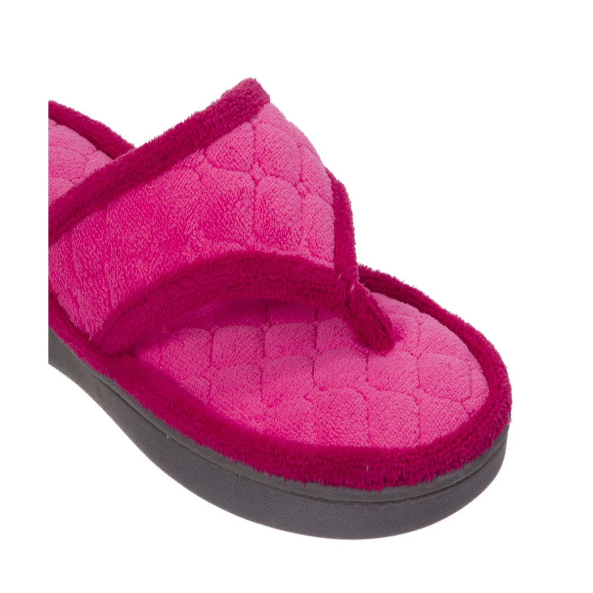 Dearfoams Quilted Terry Paradise Pink Flip Flop