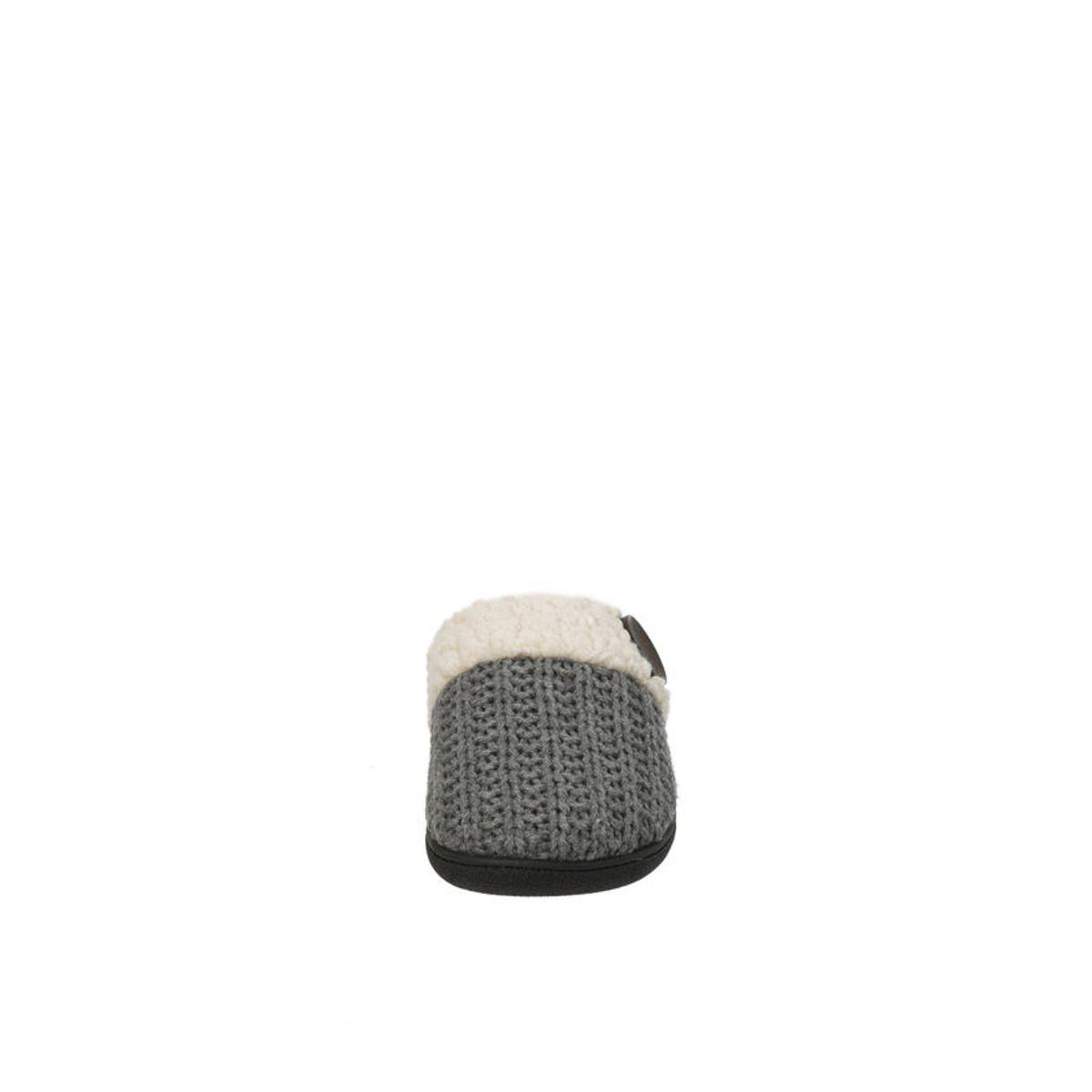 Feelinwow Cable Knit Scuff Slipper Grey