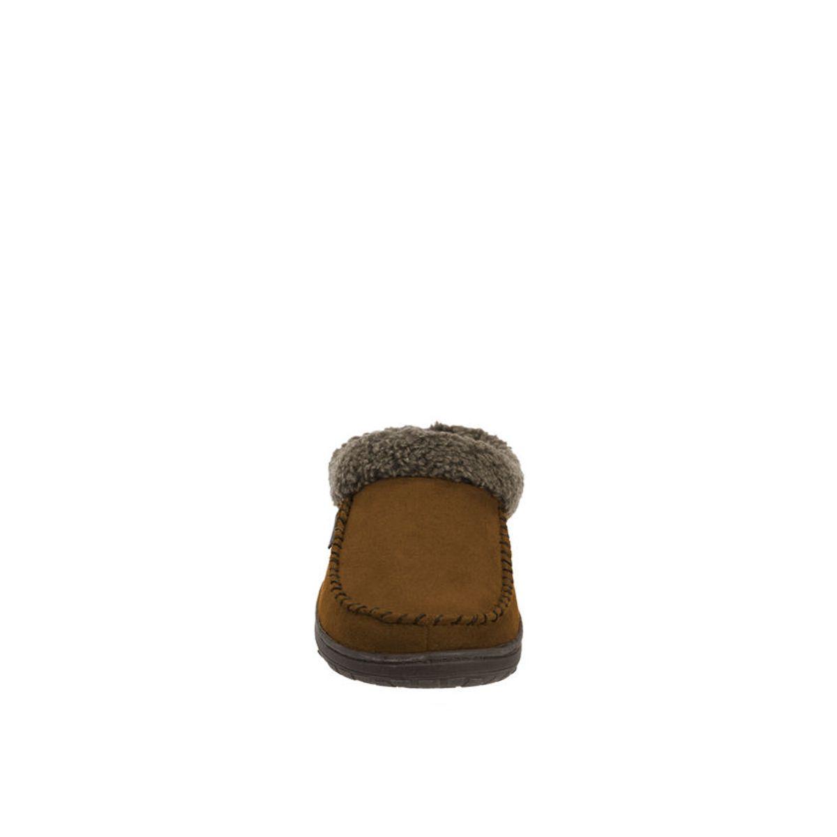 Feelinwow Microsuede Clog Slipper with Cuff Beige
