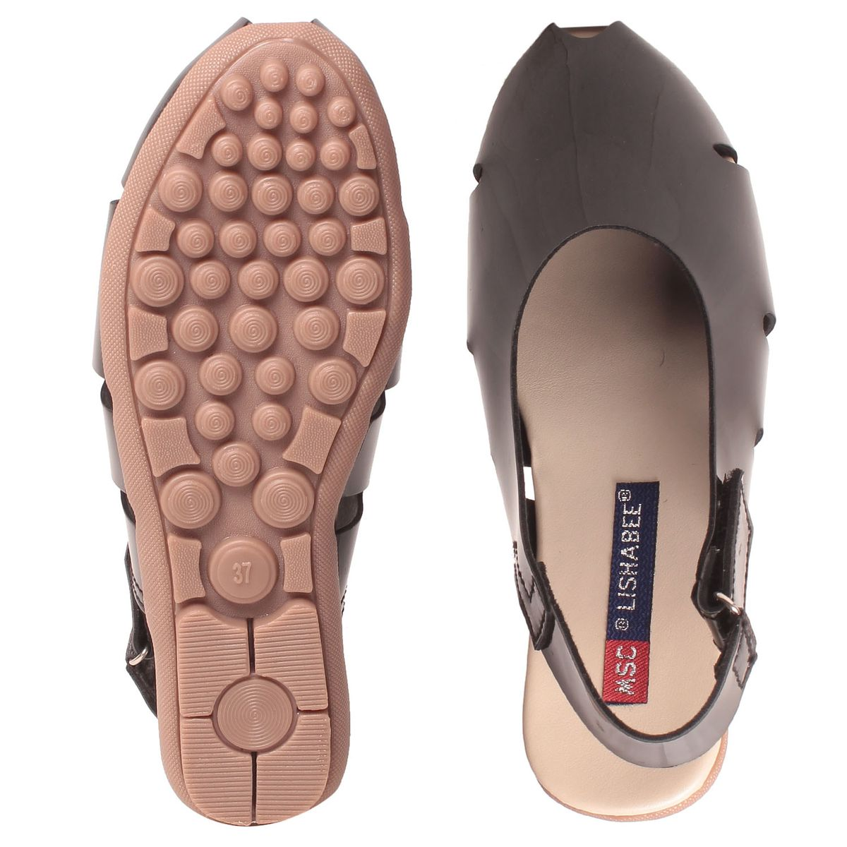 Msc Women Synthetic Black Sandal1